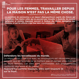 Poster - For women, working from home is not the same - en français